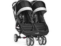 Baby jogger city mini double in black