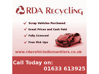 RDA Recycling - Scrap Yars, Scrap cars wanted, Vehicle breaking in Newport