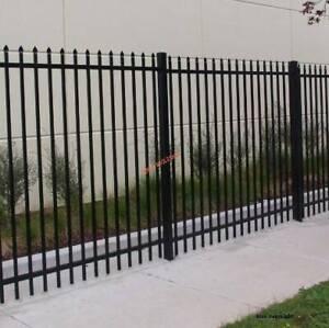1800 x 2400mm punch thru black powder coated tubular fence