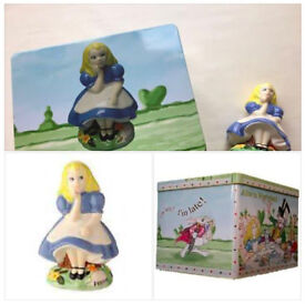 Disneyland Walt Disney Alice In Wonderland Figurine Figure Quality Collector Piece Mint Rare