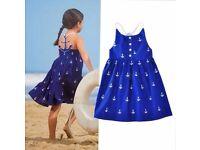 Girls anchor print dress (international item)