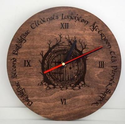 Silent Clocks Decorative Wooden Engraved Wall Indoor Home Gift Rustic Country