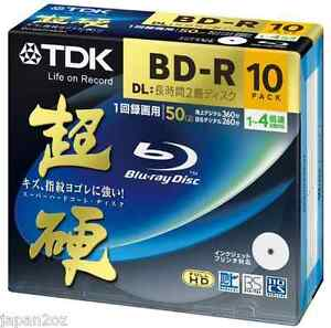 10 Blank TDK Blu-Ray Discs 50GB BD-R DL 4x HD disc ★Repacked★ ★★AUSSIE SELLER★★