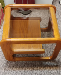 Glass top side table $40 OBO
