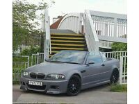 BMW E46 M3 MANUAL CONVERTIBLE TOP SPEC WITH HARDTOP EX DEMO CAR CHEAPEST ON NET NOT R32 S3 GOLF R