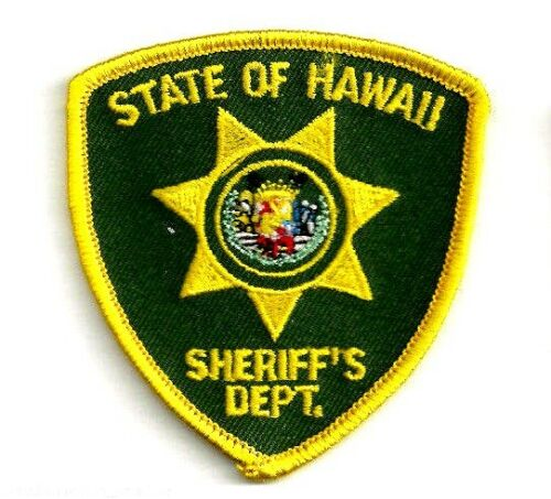 STATE OF HAWAII SHERIFFS DEPARTMENT - SMALL SHOULDER PATCH - IRON OR SEW-ON PATC