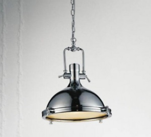 "Chrome ""industrial pendant"" Light"