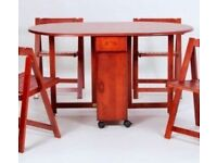 Foldable Mahogany butterfly dining table