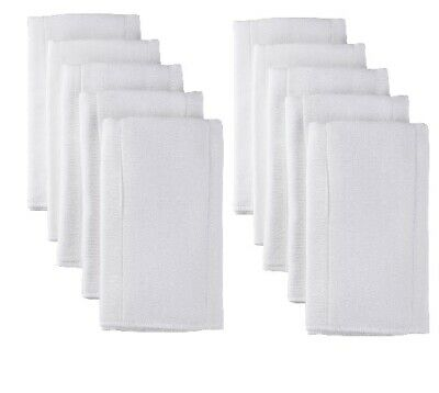 Gerber Baby Unisex 10-Pack Pre-Fold Organic White Cloth Diapers Birdseye Weave