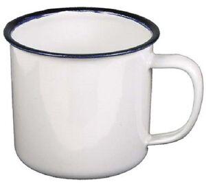 Email Tasse Emaille Kaffee Becher Outdoor Camping Geschirr weiss 300 ml NEU