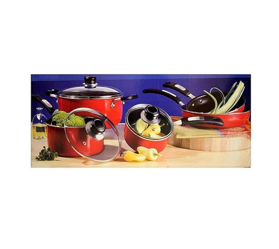 Gibson Oster Welford 8 Pc Non Stick Aluminium Cookware Set-