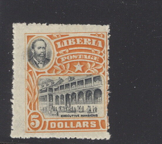 Liberia 1906, $5 Mansions official,