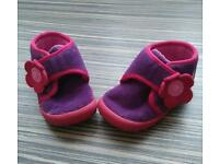 Clarks baby girl slippers size 3