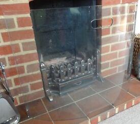 CURVED GLASS FIRE SCREEN/GUARD