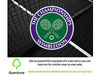 Wimbledon Tickets - Ladies' Singles Final -- Read the ad description before replying!!
