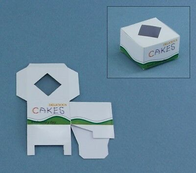 Package of 2 Dollhouse Miniature Empty Cake Boxes for Bakery #CB01[2]