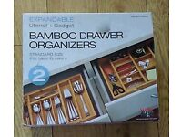 Bamboo expandable Drawer organizers