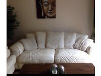 Cream leather sofa need to sell *asap*
