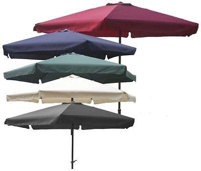 Sonnenschirm Ø 3m mit Kurbel und Krempe Schirm Gartenschirm 8 Farben verfügbar