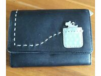 Radley purse, black and pale blue leather