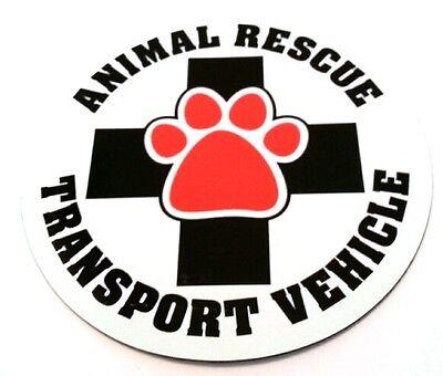 Animal Rescue Transport Dog Magnet US Made Car Magnet