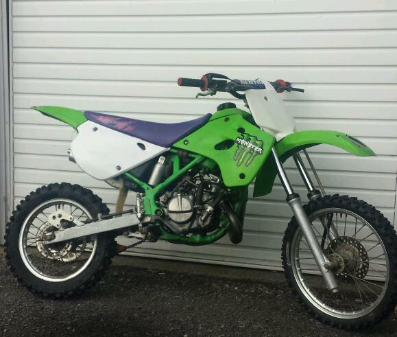 kawasaki kx 80 85 motorcross bike crosser pit bike yz cr. Black Bedroom Furniture Sets. Home Design Ideas