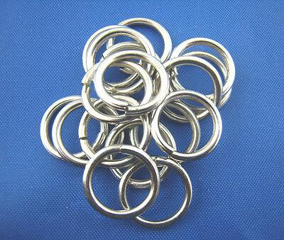 100 Jump Rings Open 12mm x 1.2mm (16 Gauge) Antique Silver Tone Findings J00278K