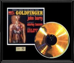 GOLDFINGER-JAMES-BOND-007-ORIGINAL-SOUNDTRACK-RARE-GOLD-RECORD-DISC-ALBUM-LP