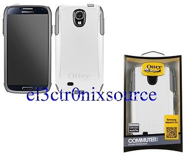 NEW Otterbox Commuter Case w/Screen for Samsung Galaxy S IV 4 S4 GLACIER WHITE on Rummage