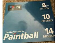 10 paintball tickets with 1000 free paintballs. RRP £300