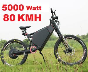Brand New 5000 Watt 80kmh EBIKE + Full Suspension + LONG RANGE