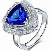 Tanzanite Trillion Ring