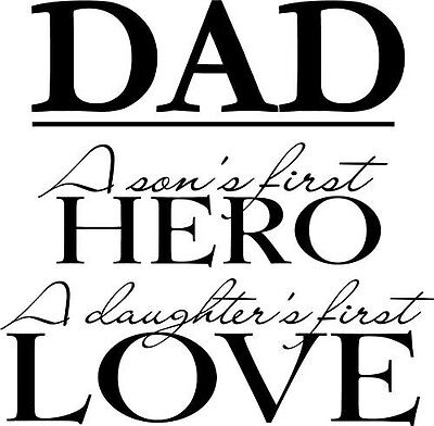 Dad Son & Daughter Vinyl Wall Home Decor Decal Quote Cute Inspiration - Cute Inspiration