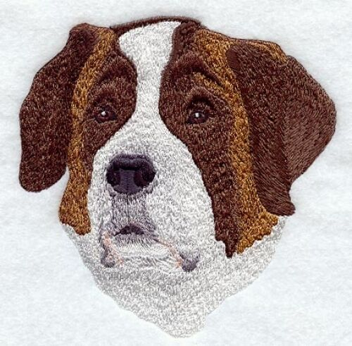 Embroidered Short-Sleeved T-Shirt - Saint Bernard I1177 Sizes S - XXL