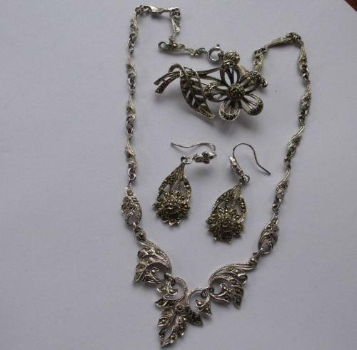 Vintage Marcasite Necklace Ebay