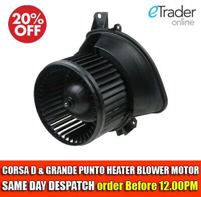 VAUXHALL CORSA D HEATER BLOWER MOTOR FAN & FIAT GRANDE PUNTO WITH WITHOUT AIRCON