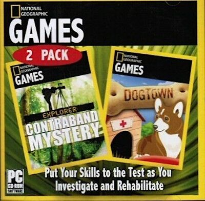 National Geographic Explorer: Contraband Mystery and Dogtown (PC, 2 games)
