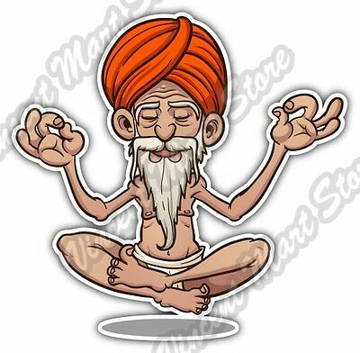 Floating Guru Levitation Yoga Gift Idea Car Bumper Vinyl Sticker Decal 4 X5