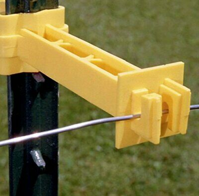 Zareba T-post Wrap-around 5 Extender Insulator For Electric Fence-25 Pk Yellow