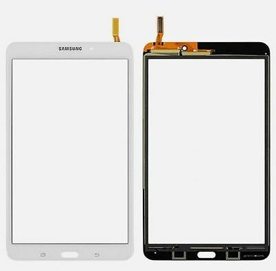 White Samsung Galaxy TAB 4 SM-T337T 8.0 Lens Touch Digitizer Glass + Adhesive