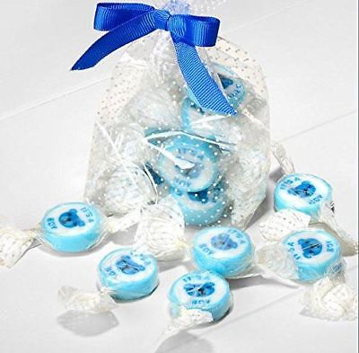 It's A Boy Baby Shower Party Blue Candy Favour Cream Flavour Sweets Pack of 50 - Baby Shower Sweets