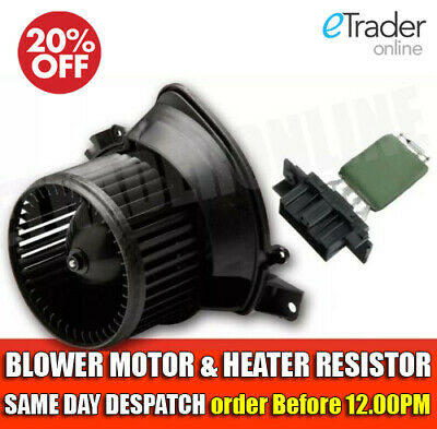 VAUXHALL CORSA D HEATER BLOWER MOTOR / FAN & RESISTOR 2006 ONWARDS MK3 NEW
