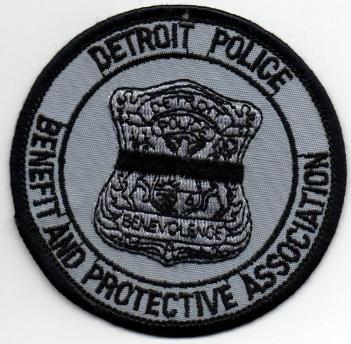 MICHIGAN MI DETROIT BENEFIT AND PROTECTIVE ASSOCIATION POLICE NICE PATCH SHERIFF