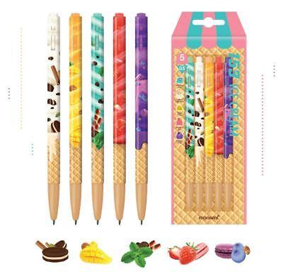 Korea Brand Monami 153 Ice Cream Ball Point Pen 0.5mm 5 Pcs