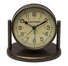 Bronze Desk, Mantel & Shelf Clocks with Alarm