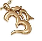 Gold OM Pendant
