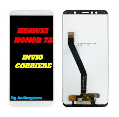 DISPLAY LCD+TOUCH SCREEN HUAWEI HONOR 7A AUM-AL00 L29 TL20 TL00 BIANCO VETRO