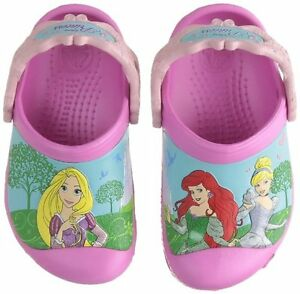 Princess Crocs (Toddler size 8/9)