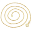Ladies-18-034-Inch-22K-Yellow-Gold-GP-Open-Chain-Link-Necklace-N56