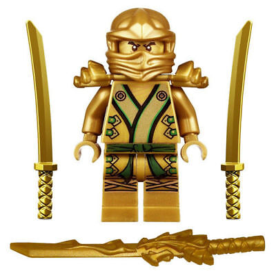 Kids Lego Ninjago Minifigure Golden Ninja Lloyd  Gold Dragon Sword   Mech Set